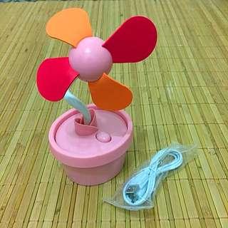 桌上型充電小花風扇