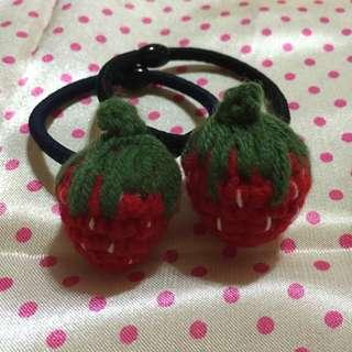 手工草莓🍓髮飾