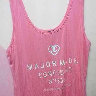 xs major 粉紅色 背心
