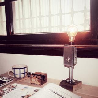 🚚 LOFT 工業風 配線盒金屬水管 氣氛燈/裝飾燈/夜燈 (附愛迪生燈泡)