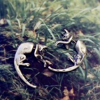 🚚 個性風立體貓咪 耳環