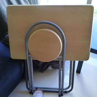 [Reserved] Pre-Loved Folding Chair And Table