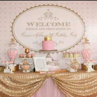 Princess Themed Birthday Party (Party Supplies)  Pls CHAT with us for the detailed/specific product listing & price.. We Have wide range of stocks pre printed & personalized...