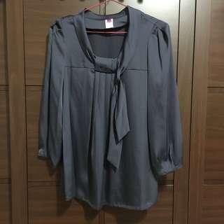 🎀伊蕾-全新紫灰色襯衫