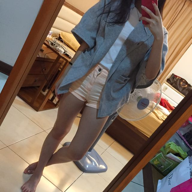 棉質灰色罩衫
