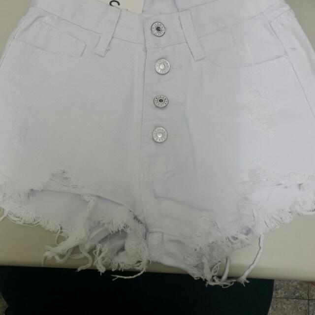 韓系排扣高腰褲