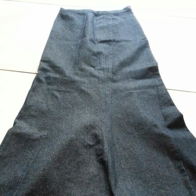 復古-小魚尾長裙