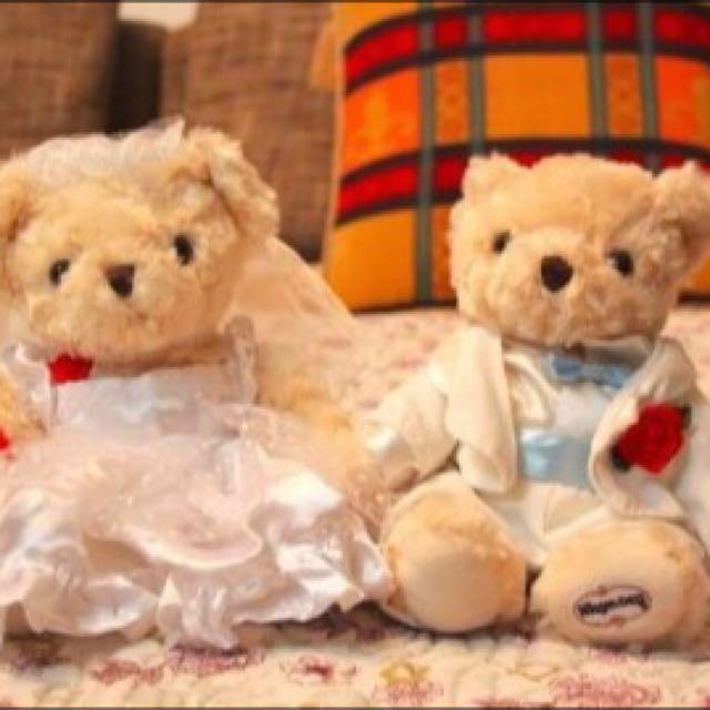 全新✨哈根達斯婚禮泰迪熊一對