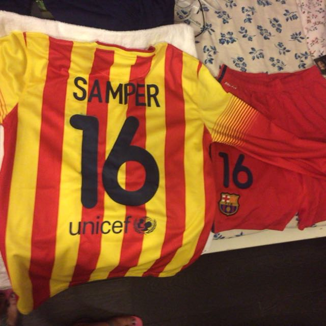 new arrival 2f0a9 38f18 Fc Barcelona B Sergi Samper #16 Senyera 2013/14 Away Long ...