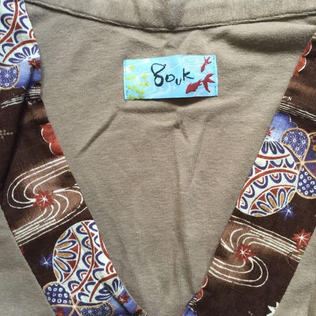 Gouk Kimono Sleeve Brown