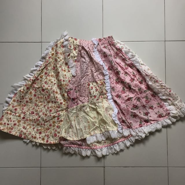 H.naoto FRILL Skirt