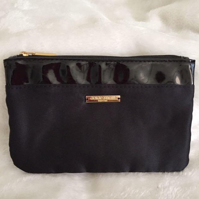 59fed91a07ed ✅InStock Giorgio Armani Parfums Purse Makeup Pouch Cosmetic Bag ...