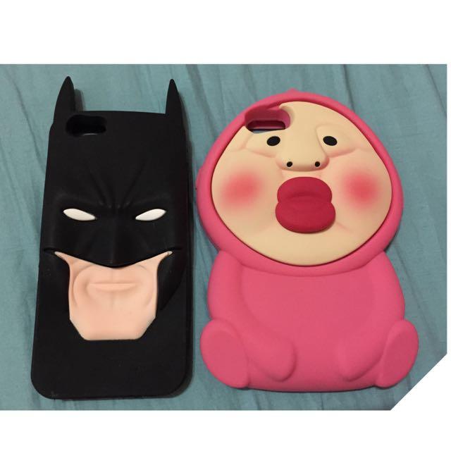 (全新)iPhone 6 殼 4.7寸。屁桃/蝙蝠俠一組