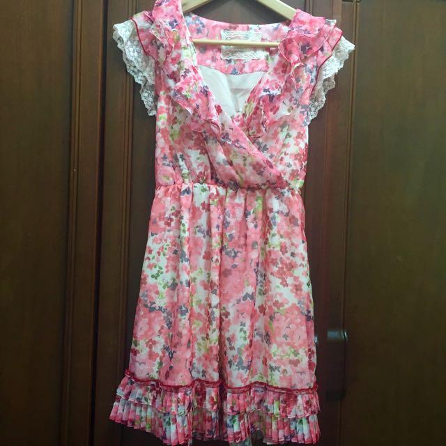 Lisa.Lisa雪紡洋裝