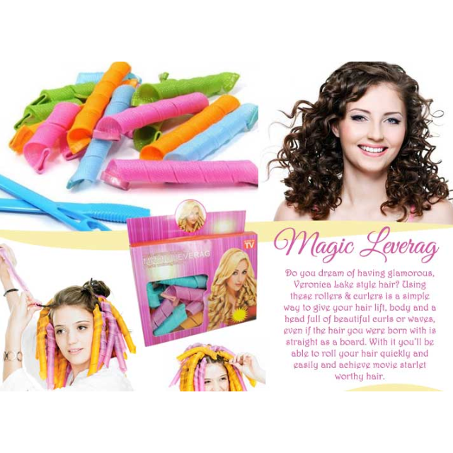 Magic Circle Hair Styling Roller Curler Leverag Tool For Spiral