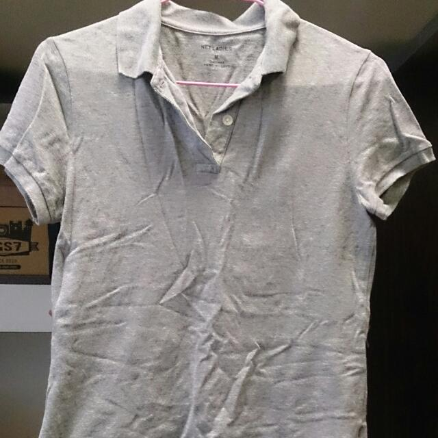 Net灰色polo衫M