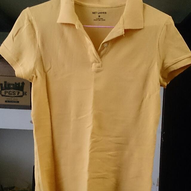 Net黃色polo衫M
