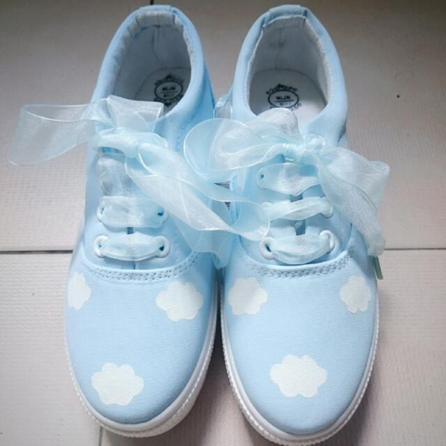 Pastel Dreamy Cloud Platform Shoes