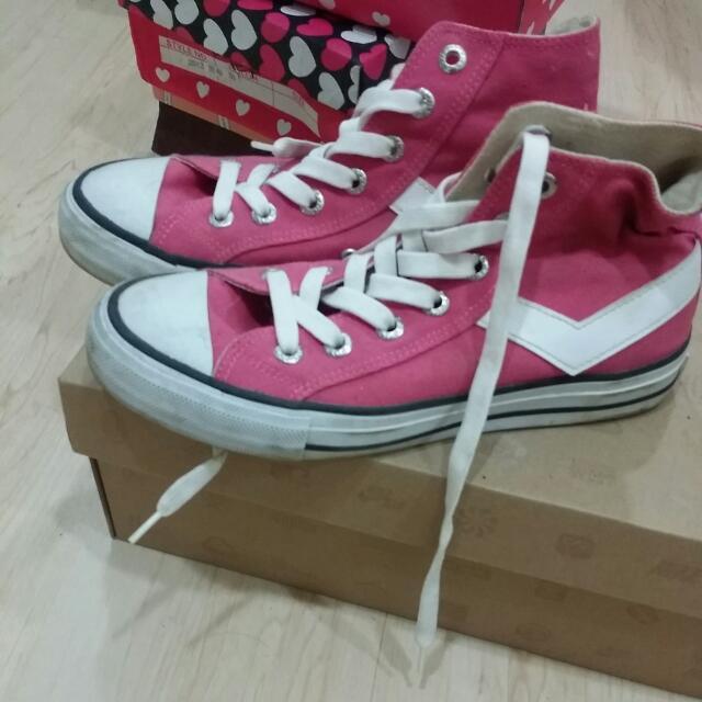 Pony深粉色帆布鞋