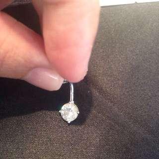 💋二手Swarovski 水晶耳環(也可當肚臍環)