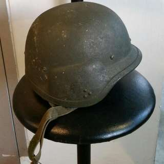 Old Used Green Helmet