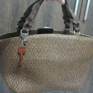 Fossil Woven Handbag, Excellent Condition