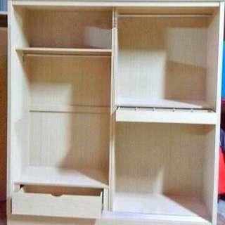 客製化訂做-低甲醛A級木心板衣櫃(顏色:胡桃/白象)