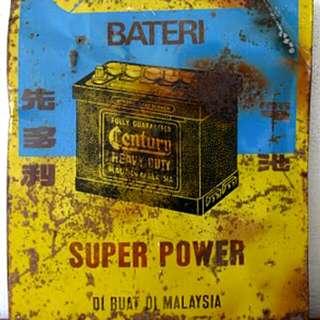 Bateri Super Power Tin Sign