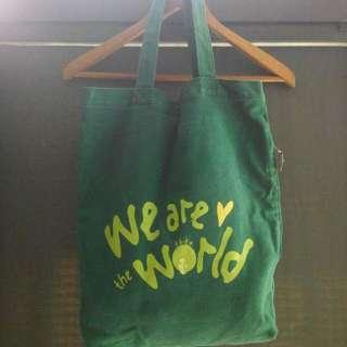 GALOOP 綠色 帆布袋