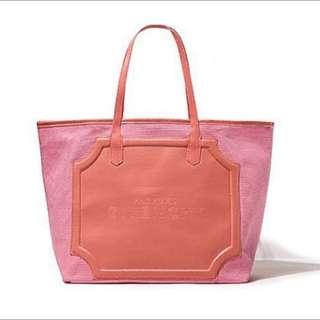 現貨💕GIVENCHY紀梵希 專櫃贈品 浪漫甜美粉經典Logo拼接帆布 托特包 購物包 側肩包 方包