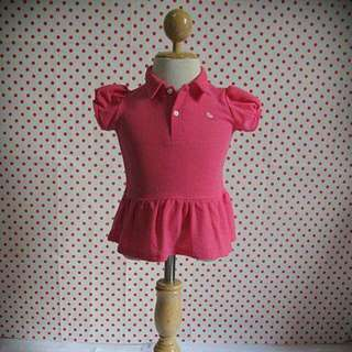Girl's Collar Tshirt Dress