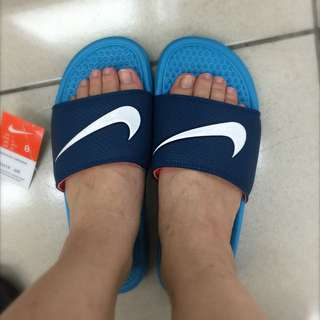 Nike 藍底白勾 Us8-11
