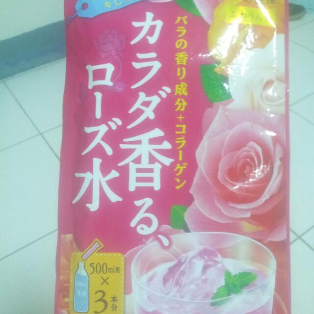 佳麗寶玫瑰香氛水(粉末)三入裝