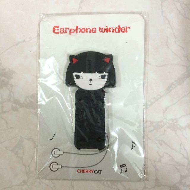 貓咪耳機纏線器