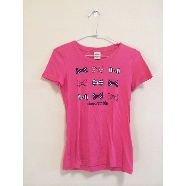 Abercrombie&Fitch A&F Kids 桃紅嫩粉色短袖上衣