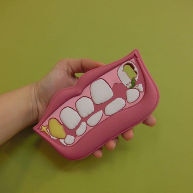 全新 Iphone5/5s 嘴巴牙齒造型手機殼