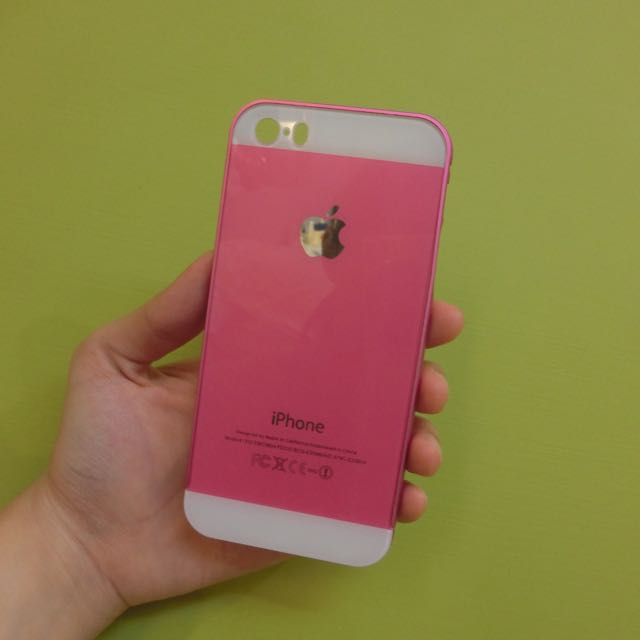 Iphone5/5s 仿i6粉色手機殼
