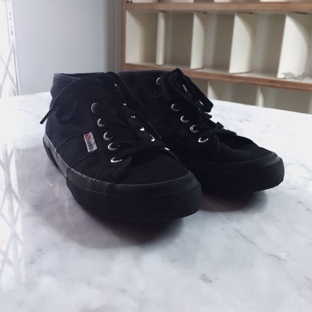 Superga Mid Top Shoes In Black