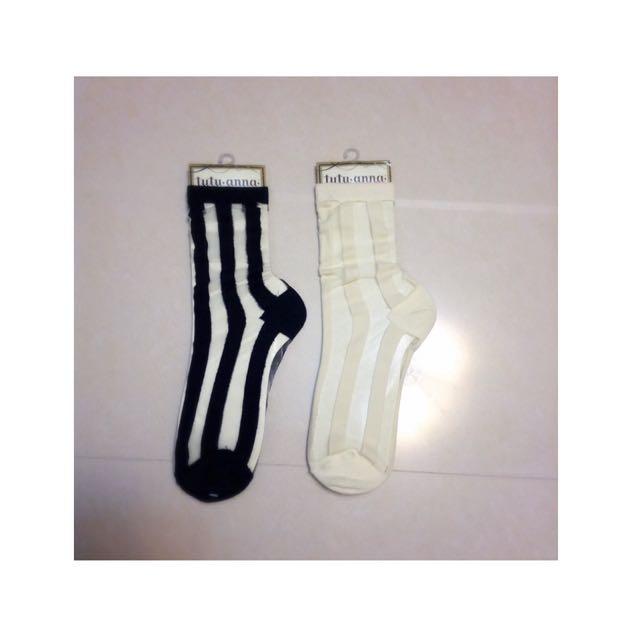 🇯🇵日本品牌tutuanna條紋透膚玻璃襪
