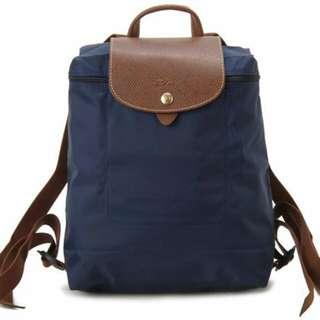 優惠價    Longchamp 正品保證後背包 型號1699 556 海軍藍 (還有深紫喔)熱賣顏色