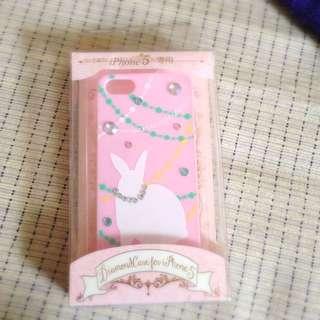 全新粉紅鑽石兔子iphone5手機殼
