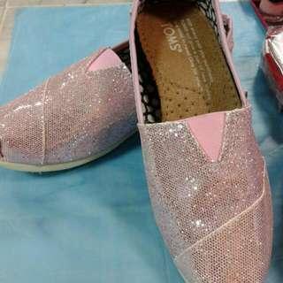 #全新#   亮片懶人鞋  喜愛粉色的妳不要錯過囉~~~