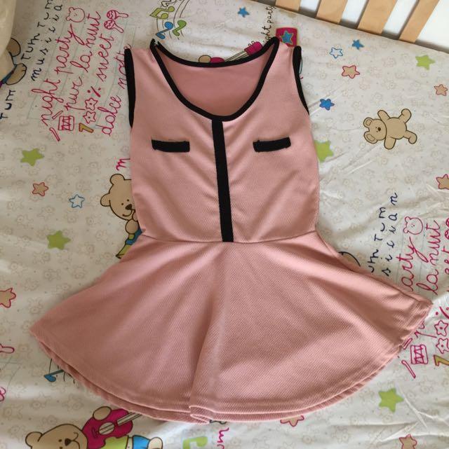 粉嫩色系氣質無袖上衣