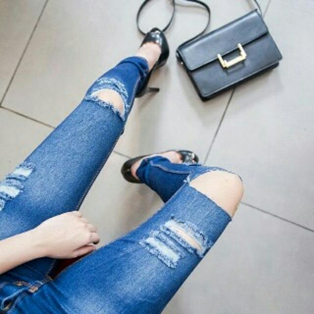 Hnm slice knee medium blue