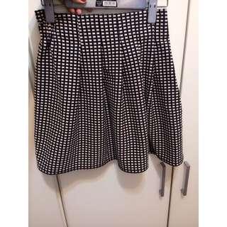 格紋鬆緊短裙