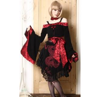 龍紋蓬裙(紅色)