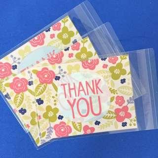 Thank You Plastic Bag 20pcs