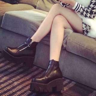 原宿zipper松糕厚底鞋