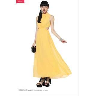 BNWT Love Bonito Cut Out Maxi Dress In Sunflower