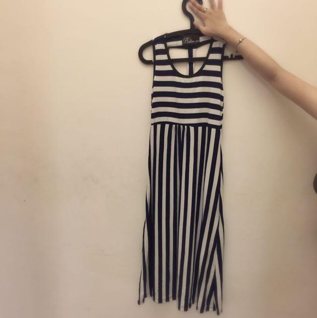 韓版休閒長洋裝,超顯瘦